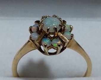 9ct Gold & Opal Ring Vintage