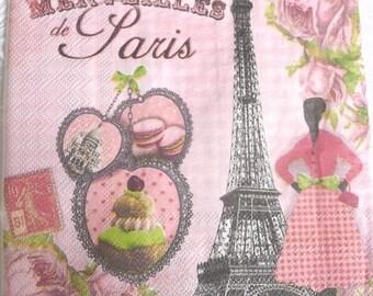 4 Paris eiffel tower paper towel