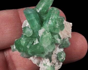 Rare Paraiba Green/Blue Tourmaline Crystals on Matrix, 42x30x25mm, ~103 cts (NF179)