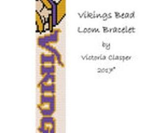 Vikings Bead Loom Bracelet by VikisCustomDesigns