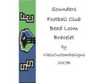 Sounders FC Bead Loom Bracelet Pattern by VikisCustomDesigns