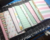 2x Travelers Notebook Midori Standard Size TN Inserts - Uptown Chic - 2 Blank Notebooks + 1 Folder + 1 Elastic Expansion Band