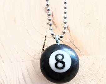 Recycled mini-Billiard balls Necklace