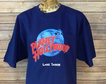 Vintage 90s Planet Hollywood Lake Tahoe T--Shirt (XL)