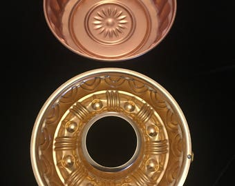 Pair of Vintage Copper Jello Molds