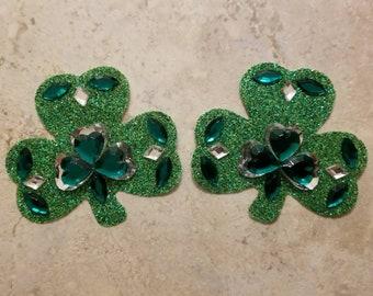 Shamrock Reusable  Pasties - St. Patrick's Day - GINAS GEMS -  Costume Nipple Covers, Free Shipping - Ginasgemfactory -