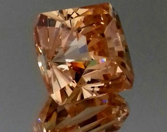 CZ Cubik zirconia champagne color, cushion cut square