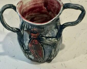 Cardinal Trio Sculptural Vase