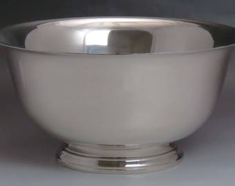 Circa 1940's American Heather Mathews Sterling Silver Revere Punch Bowl