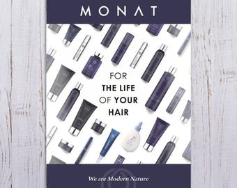 "Monat No's Postcards  - 3.5""wide x 5""tall - Durable 16pt - Gloss Finish Front -PRINTED and SHIPPED directly to YOU!"