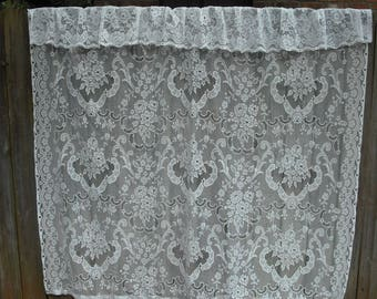 Ornate White Vintage Lace Shower Curtain, Shabby Chic, Cottage Chic