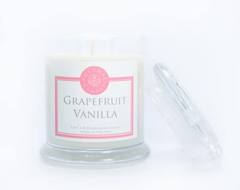 Grapefruit + Vanilla 12oz Soy Candle