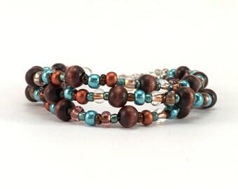 Bracelet, Beaded Jewelry, Seed Bead Jewelry, Earth Tones, Copper Jewelry, Boho Jewlery, Gift, Wife Gift, Mom Gift, Bohemian
