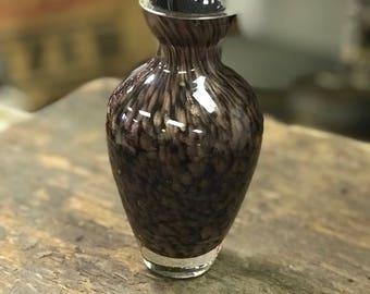 Vintage Brown/Gold Perfume/Scent Bottle