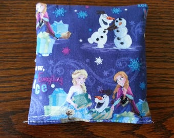 Boo Boo Packs, Ouch Pouch, Reuseable Hot or Cold Rice Packs, Kids Ice Pack, Handwarmers, Heading pad, Set of 2, Cotton Frozen Fabric !