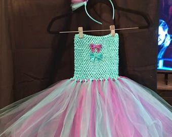 Turquoise and Purple fits 4T 6T