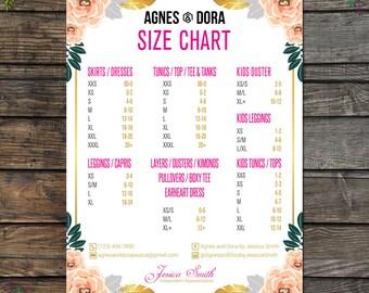Price Chart Agnes And Dora Customizable
