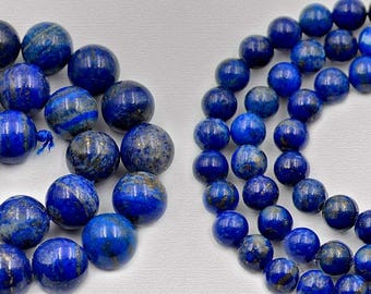 discount -10% Natural Blue Lapis Lazuli Beads, Blue Gemstone Beads Stone Spacer Beads, Round Natural Beads 2mm 3mm 4mm 6mm 8mm 10mm 12mm 14m