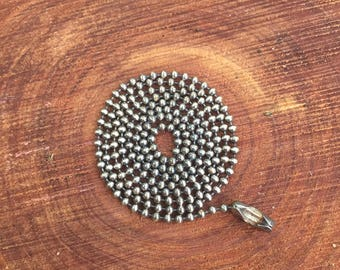 Antiqued Silver Ball Chain