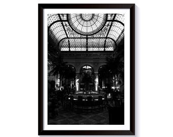 Interior Black and White Fine Art Photography. The Plaza Hotel, Manhattan, New York City. Framed Print for Wall Decor