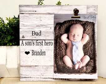 Dad Frame, Dad, a sons first hero frame, Father's Day frame, personalized frame, dad frame, Father's Day gift, personalized dad gift,