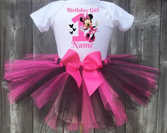 Minnie Mouse Birthday Outfit, Minnie Mouse First Birthday Outfit,Minnie Mouse 1st, 2nd, 3rd, 4th, 5th Birthday Outfit, Minnie Mouse Outfit