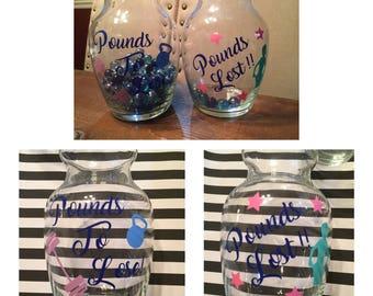Weight Loss Jars - Motivational Jars - Custom Diet Jars
