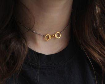"""Lucky cuffs"" choker style necklace"
