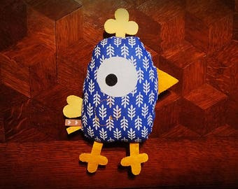 Blue chick toy/blanket