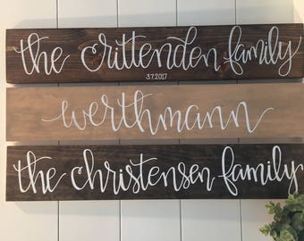 Family Established/Family Name Sign