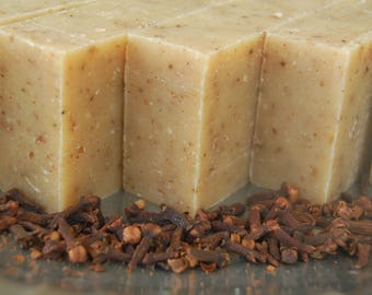 Gingerbread Cookie handmade Soap Organic Exfoliating bar Aphrodisiac scrub bar