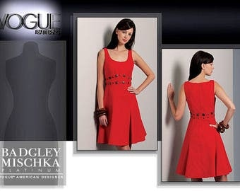 VOGUE 1089 sewing pattern.  Badgley Mischka Vogue American Designer.  Size 16-18-20-22.  New.  Uncut.  Factory folded.