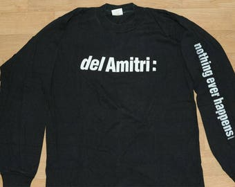 Vintage 1989 Del Amitri NOTHING EVER HAPPENS long sleeved t-shirt (Large) Waking Hours