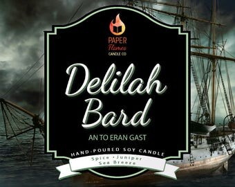 Delilah Bard - Hand-Poured Soy Wax Candle Inspired By The Darker Shades Of Magic Series