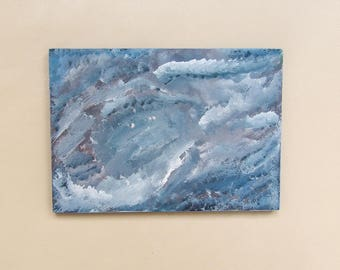 Abstract Painting, Original Art, Acrylics on Wooden Panel