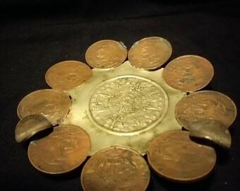 Vintage Mexican Coin Ash Tray