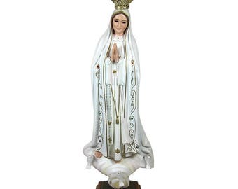 "20"" Hand-painted Our Lady Of Fatima Statue Virgin Mary Religious Statue #1035"