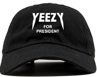 Yeezy for president kanye west 2020 350 750 zebra   - baseball dad cap hat unstructured