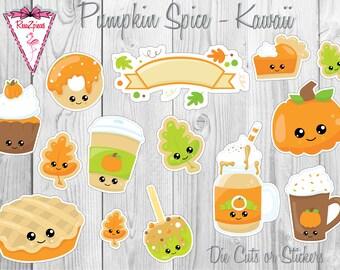 Pumpkin Spice - Die Cut / Sticker Set