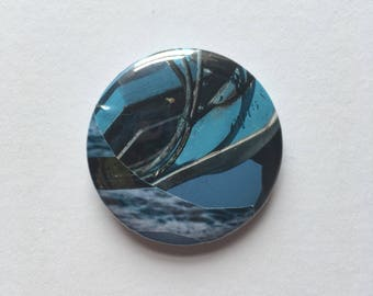 Blue collage badge #17