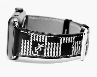 Apple Watch Band, Designer Watch Strap, Apple Watch Leather Band, Apple Watch Band 38mm, Apple Watch Band 42mm, iWatch Band Series 3