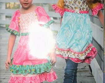 Pink Fig Vintage Jane girls' peasant top and dress