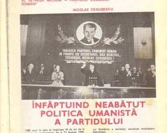Communist Romania/Ceausescu Propaganda - 1989 Sanatatea Almanah/Health Almanac- In Romanian