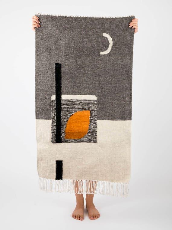 MOONLIGHT gray | Handwoven kilim