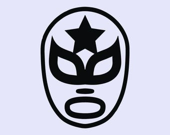Mexican Wrestling Mask vinyl decal, Luchador sticker, Lucha Libre mask, iphone, car decal, laptop