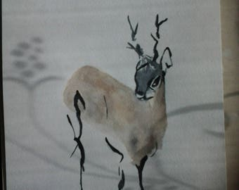 Picture of the Deer watercolor