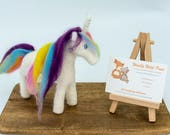Needle felted unicorn - h...
