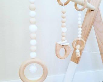 Activity Bar Toys, Activity Gym Toys, Wooden paly gym, Nursery, stylish, Decor, Sensory