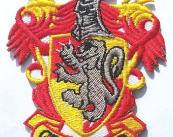 Harry Potter Gryffindor iron on patch badge