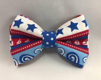 Nautical - Clip Bow Tie